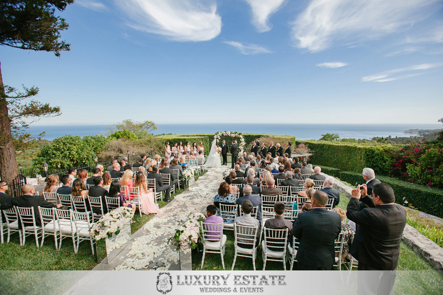 Malibu estate wedding